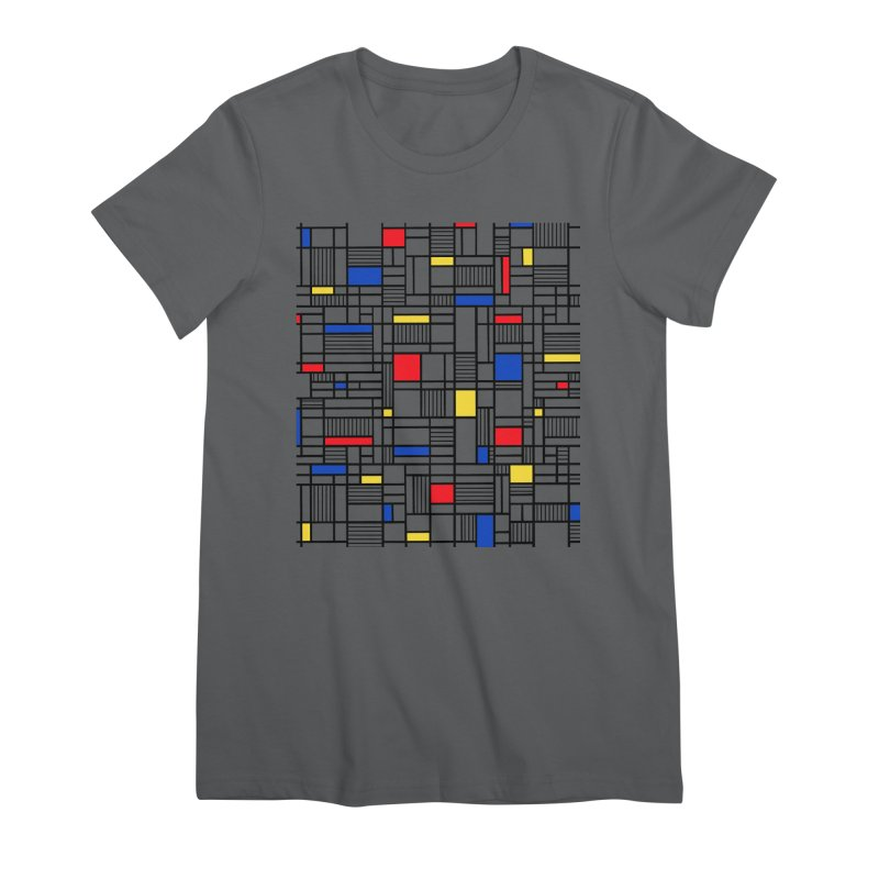 Map Lines Mond Women's Premium T-Shirt by Project M's Artist Shop