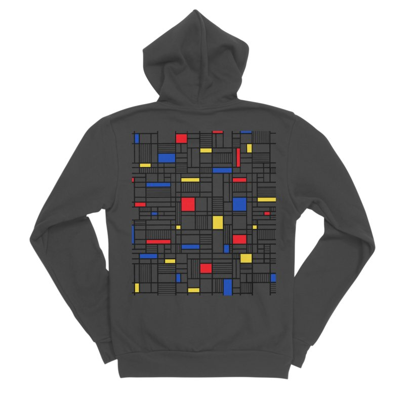 Map Lines Mond Women's Sponge Fleece Zip-Up Hoody by Project M's Artist Shop
