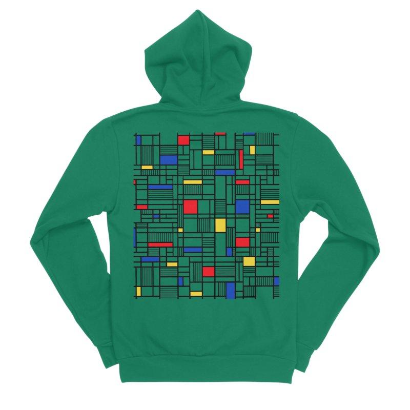 Map Lines Mond Men's Sponge Fleece Zip-Up Hoody by Project M's Artist Shop
