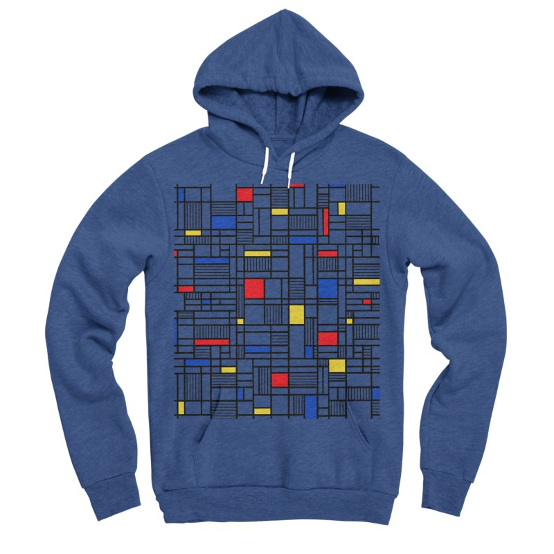 Map Lines Mond Men's Sponge Fleece Pullover Hoody by Project M's Artist Shop