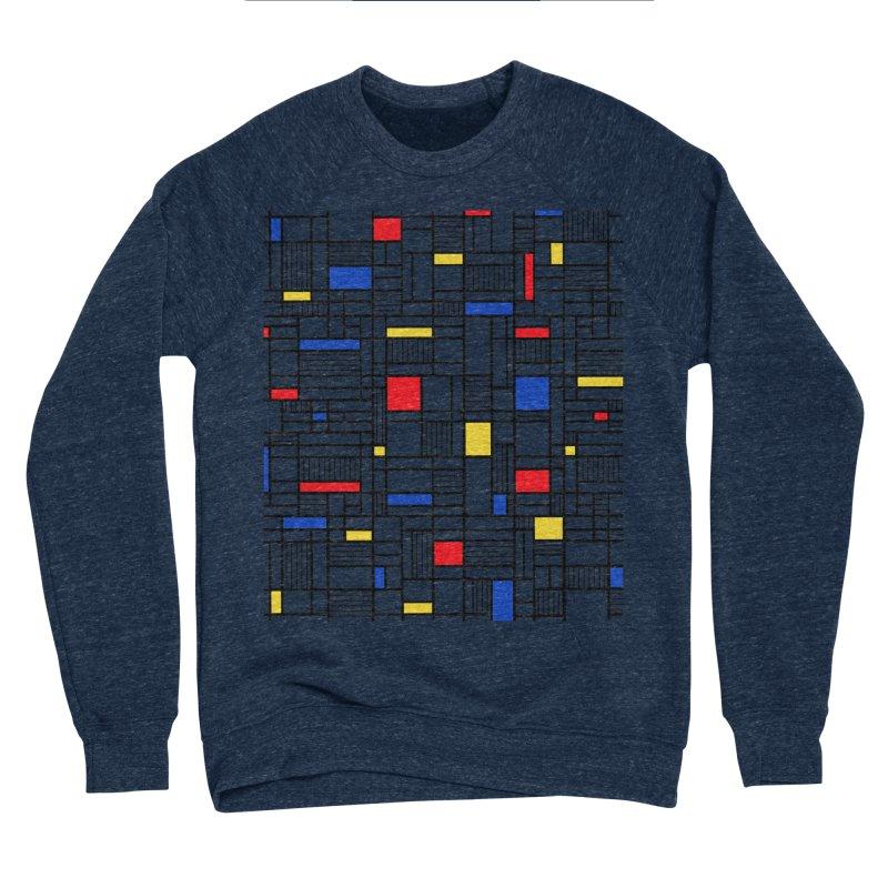 Map Lines Mond Men's Sponge Fleece Sweatshirt by Project M's Artist Shop