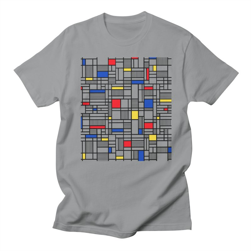 Map Lines Mond Men's Regular T-Shirt by Project M's Artist Shop