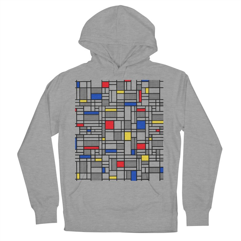Map Lines Mond Women's French Terry Pullover Hoody by Project M's Artist Shop