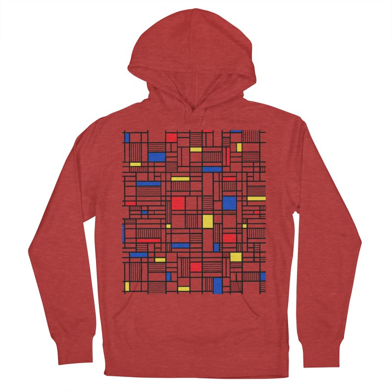 Map Lines Mond Men's French Terry Pullover Hoody by Project M's Artist Shop