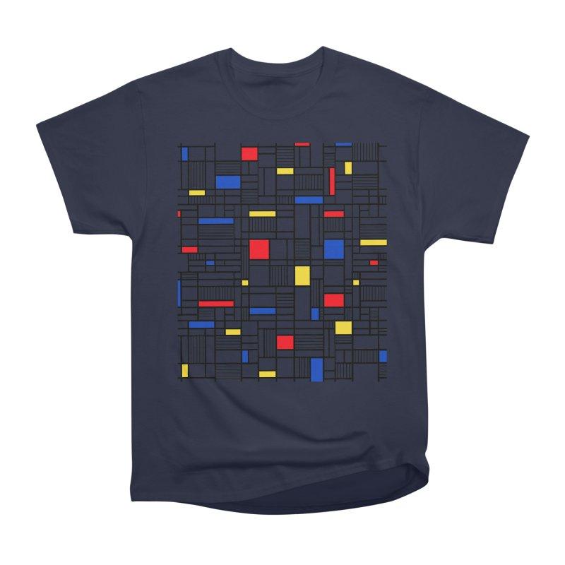 Map Lines Mond Women's Heavyweight Unisex T-Shirt by Project M's Artist Shop