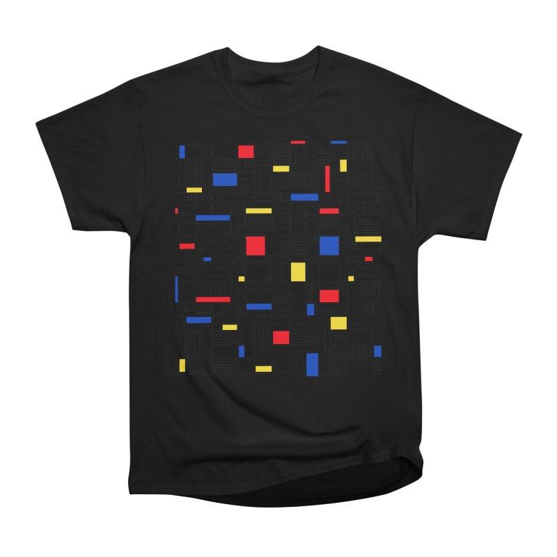 Map Lines Mond Men's Heavyweight T-Shirt by Project M's Artist Shop