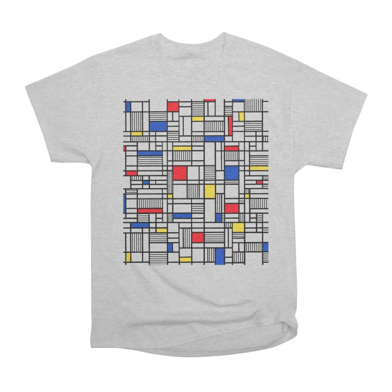Map Lines Mond Men's Heavyweight T-Shirt by Project M's Artist Shop