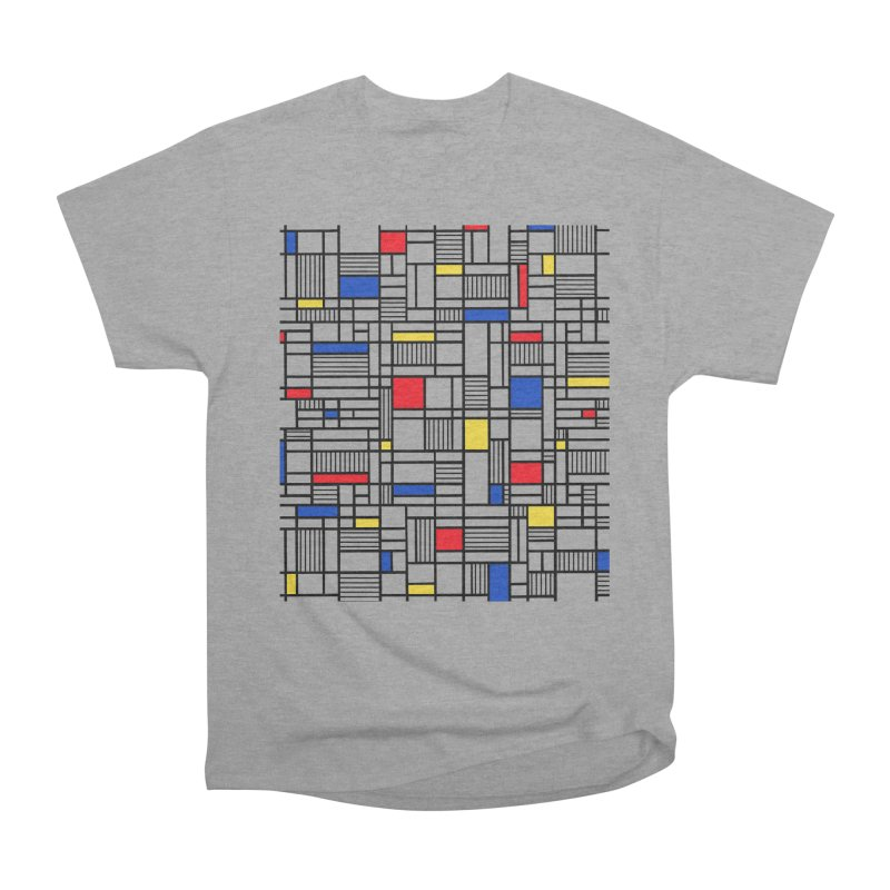 Map Lines Mond Women's Heavyweight Unisex T-Shirt by Project M's Artist Shop