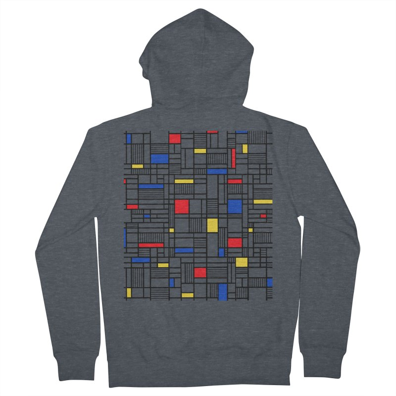 Map Lines Mond Women's French Terry Zip-Up Hoody by Project M's Artist Shop