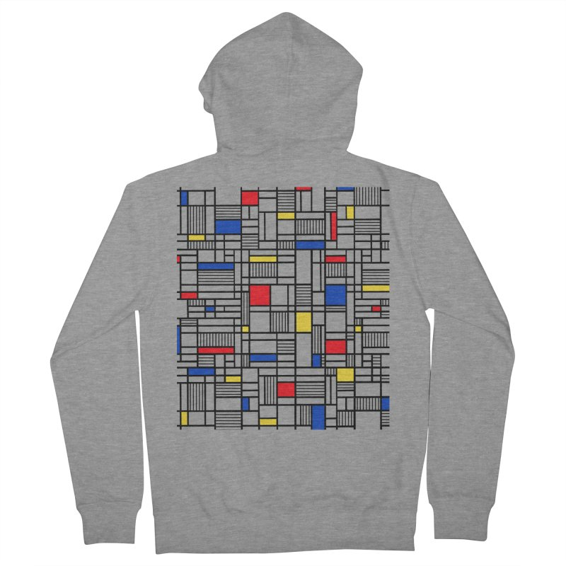 Map Lines Mond Men's French Terry Zip-Up Hoody by Project M's Artist Shop