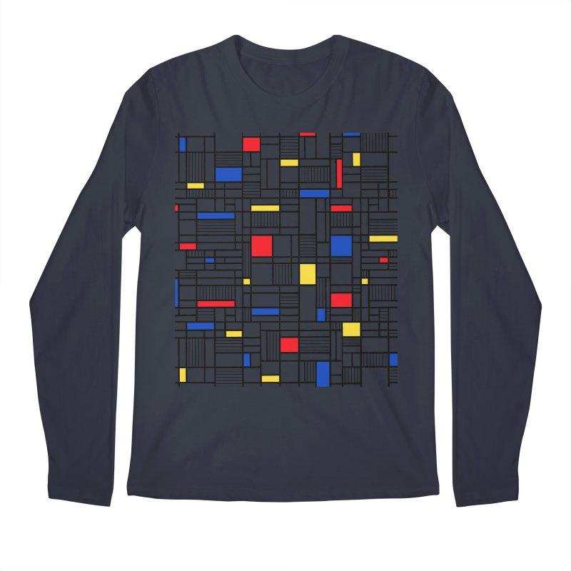 Map Lines Mond Men's Regular Longsleeve T-Shirt by Project M's Artist Shop