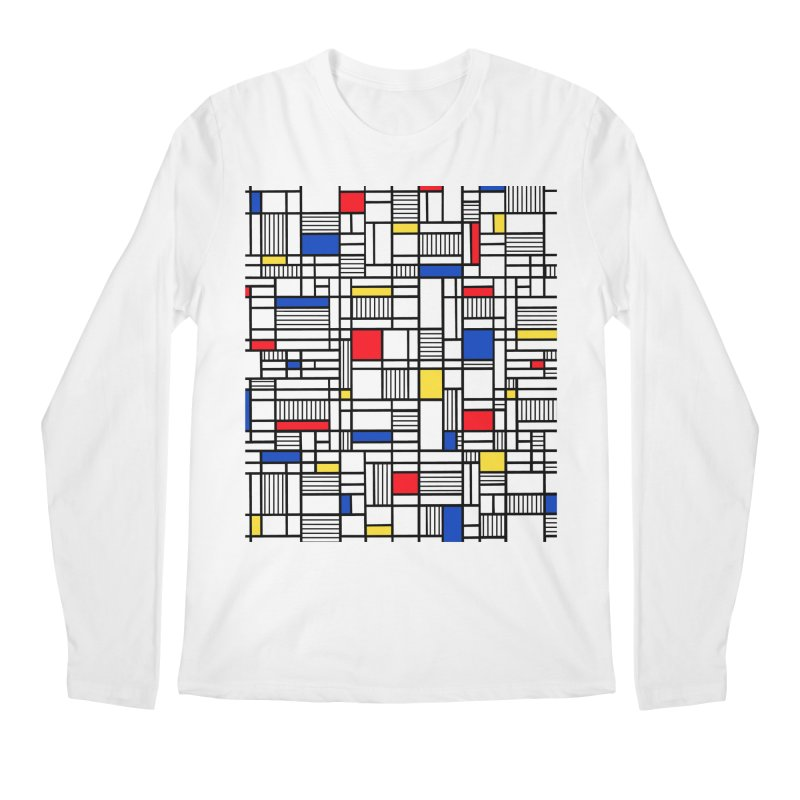 Map Lines Mond Men's Regular Longsleeve T-Shirt by Project M's Artist Shop