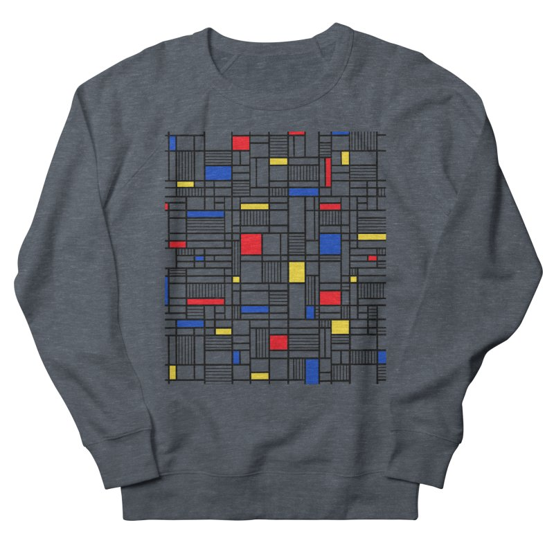 Map Lines Mond Men's French Terry Sweatshirt by Project M's Artist Shop