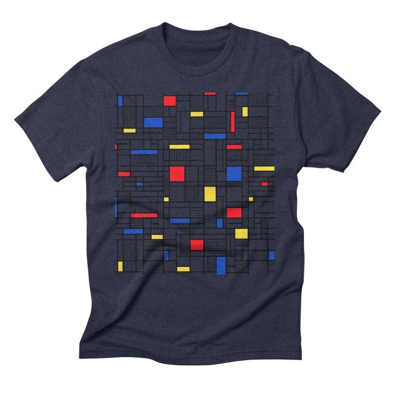 Map Lines Mond Men's Triblend T-Shirt by Project M's Artist Shop