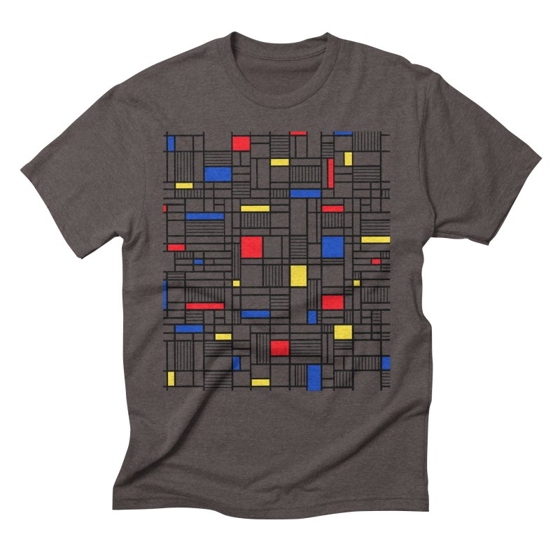 Map Lines Mond Men's Triblend T-Shirt by Project M's Artist Shop
