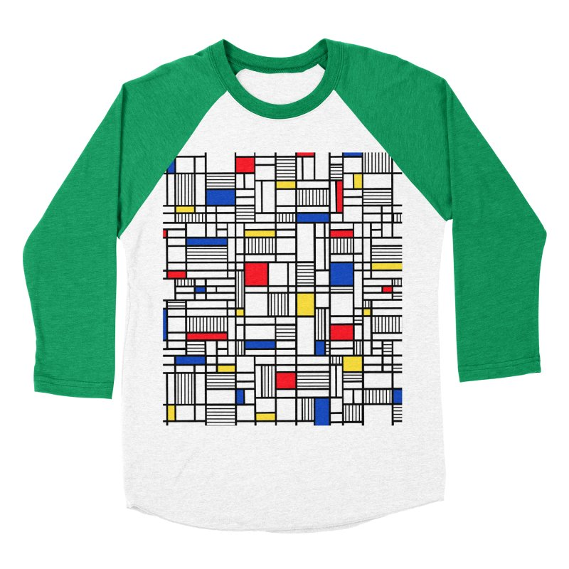 Map Lines Mond Women's Baseball Triblend Longsleeve T-Shirt by Project M's Artist Shop