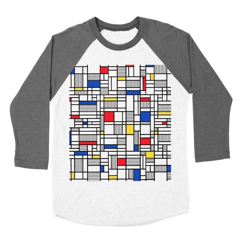 Map Lines Mond Men's Baseball Triblend Longsleeve T-Shirt by Project M's Artist Shop