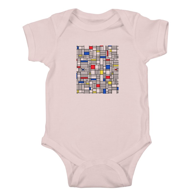 Map Lines Mond Kids Baby Bodysuit by Project M's Artist Shop