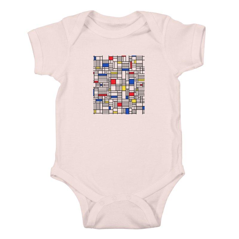 Map Lines Mond Kids Baby Bodysuit by Project M's Artist Shop