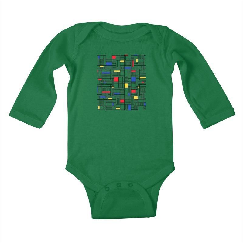 Map Lines Mond Kids Baby Longsleeve Bodysuit by Project M's Artist Shop
