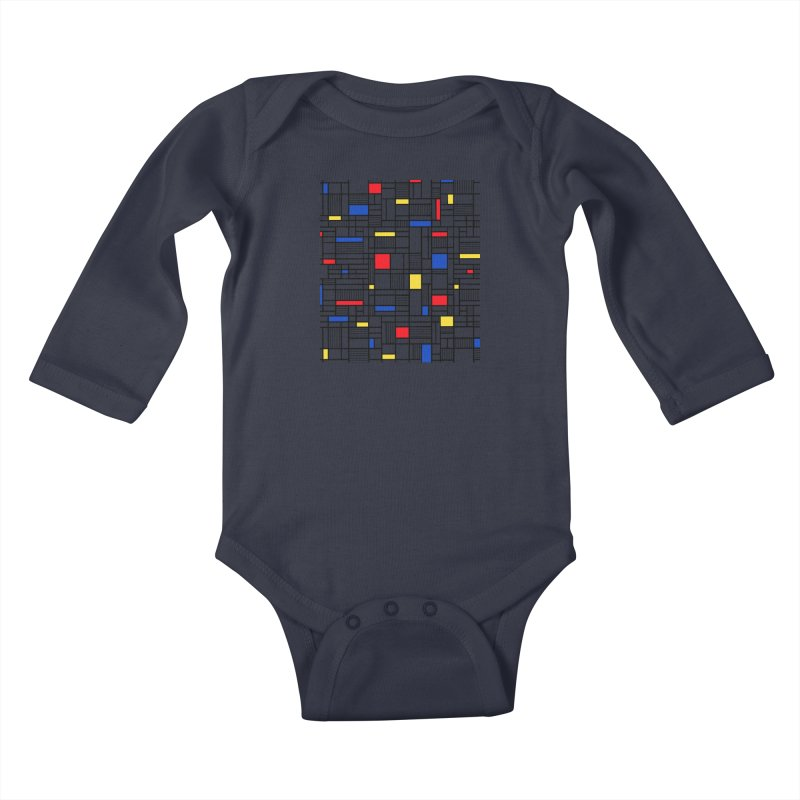 Map Lines Mond Kids Baby Longsleeve Bodysuit by Project M's Artist Shop