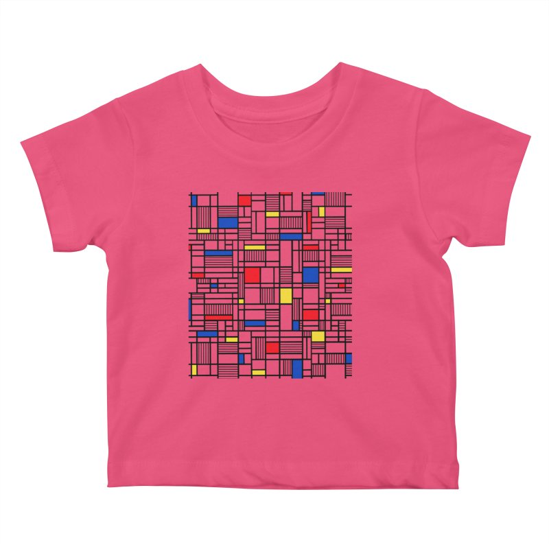 Map Lines Mond Kids Baby T-Shirt by Project M's Artist Shop