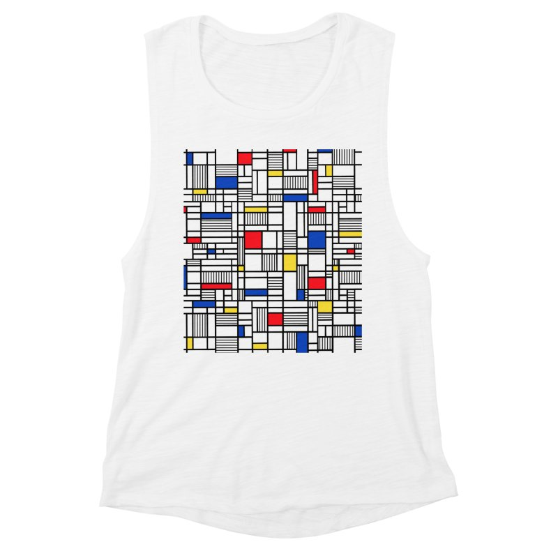 Map Lines Mond Women's Muscle Tank by Project M's Artist Shop