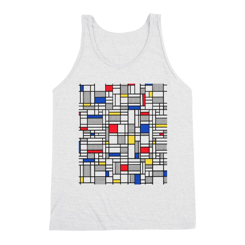 Map Lines Mond Men's Triblend Tank by Project M's Artist Shop