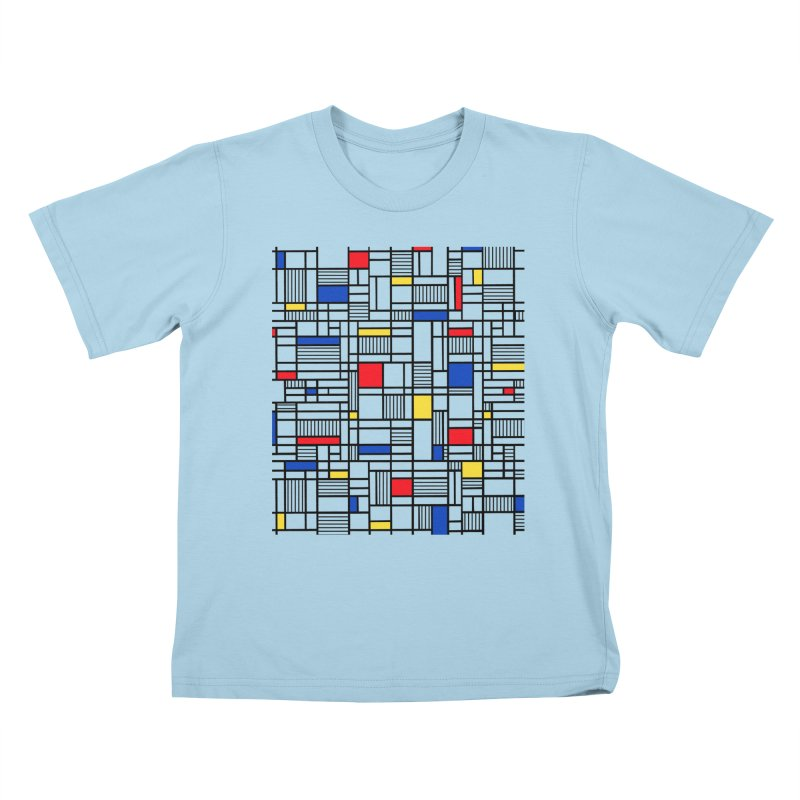 Map Lines Mond Kids T-Shirt by Project M's Artist Shop
