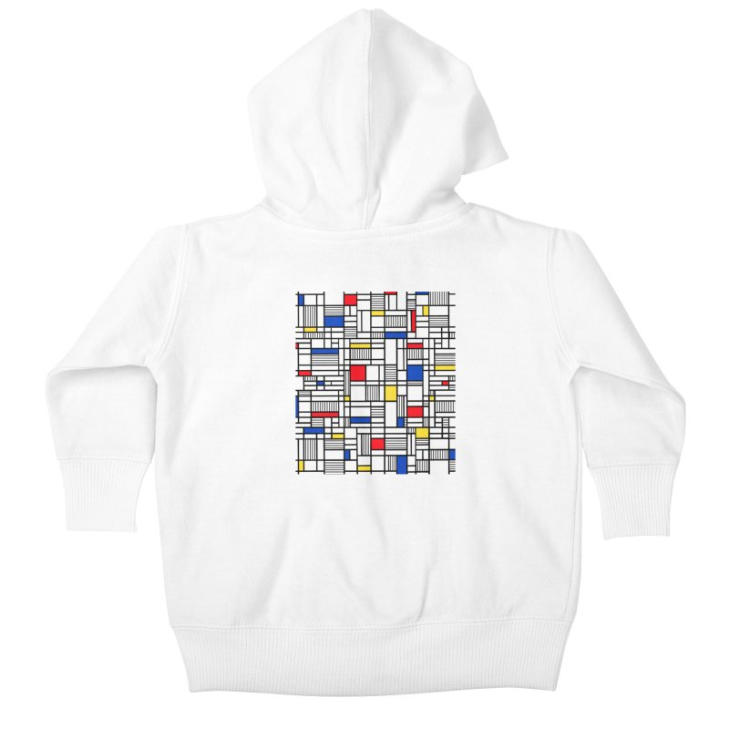 Map Lines Mond Kids Baby Zip-Up Hoody by Project M's Artist Shop
