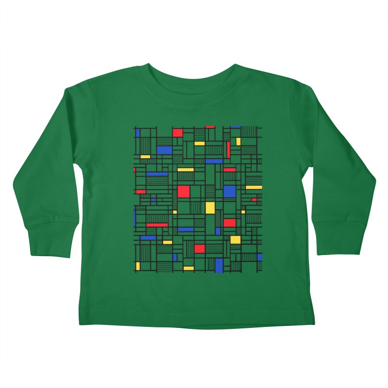 Map Lines Mond Kids Toddler Longsleeve T-Shirt by Project M's Artist Shop