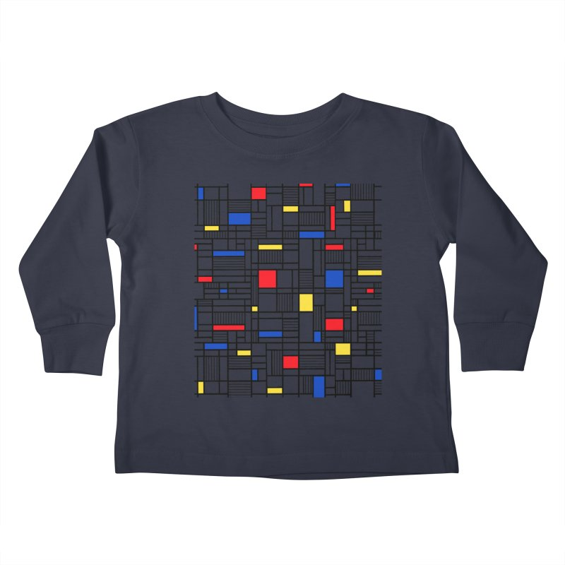 Map Lines Mond Kids Toddler Longsleeve T-Shirt by Project M's Artist Shop