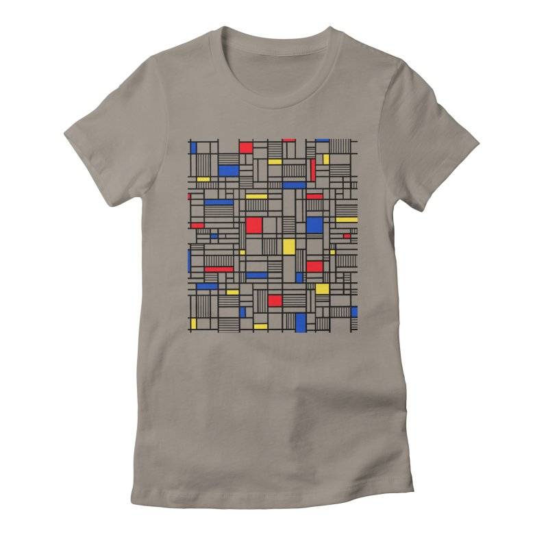 Map Lines Mond Women's Fitted T-Shirt by Project M's Artist Shop