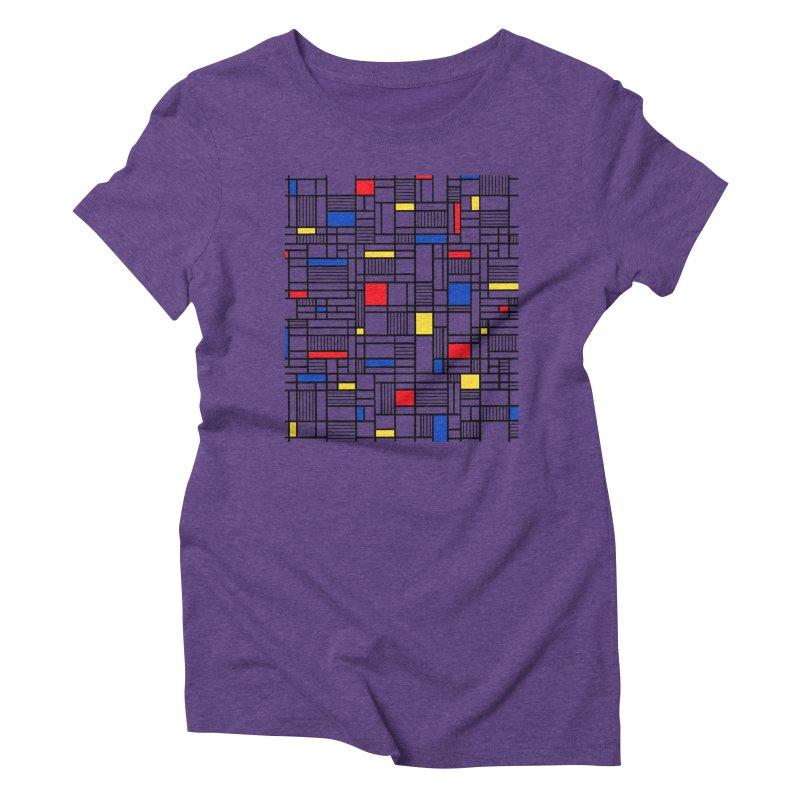 Map Lines Mond Women's Triblend T-Shirt by Project M's Artist Shop