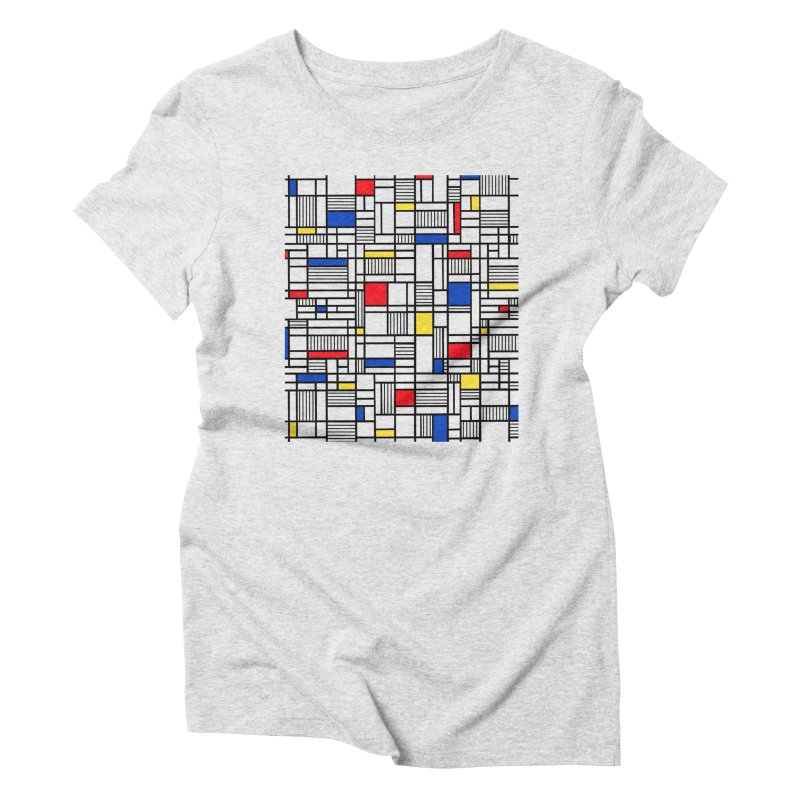 Map Lines Mond Women's Triblend T-Shirt by Project M's Artist Shop
