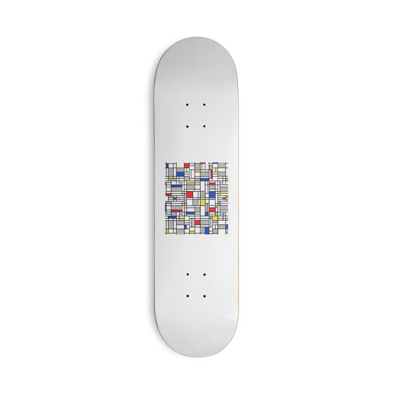 Map Lines Mond Accessories Skateboard by Emeline