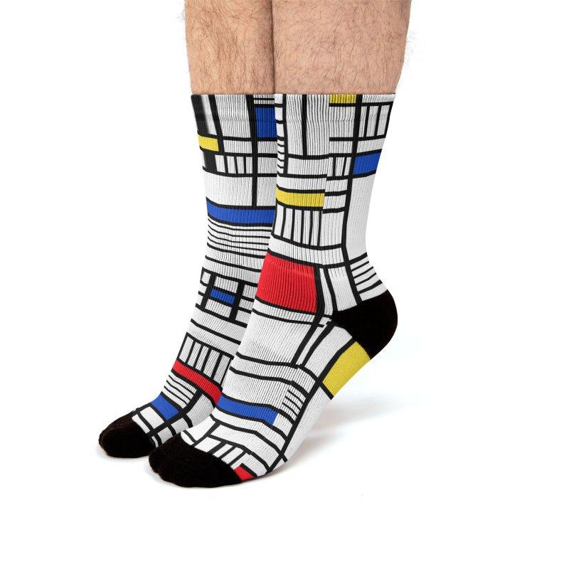 Map Lines Mond Men's Socks by Emeline