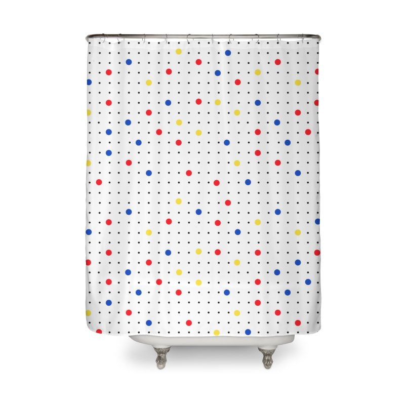 Pin Point Mond Home Shower Curtain by Project M's Artist Shop