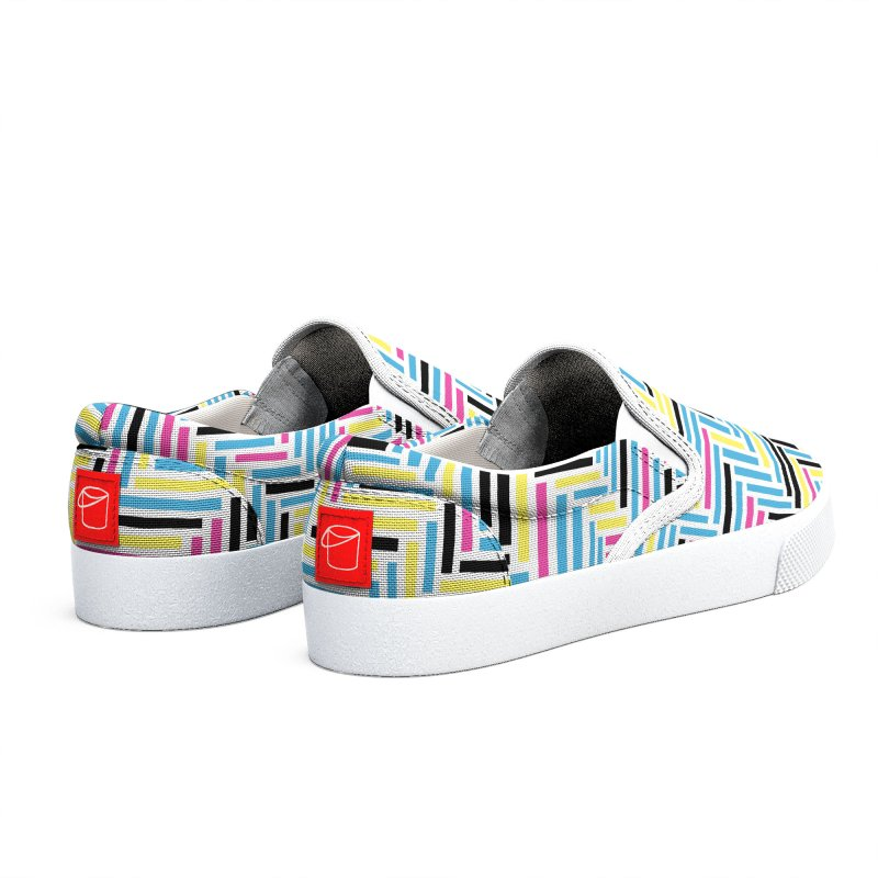 Herringbone 45 CMYK Men's Shoes by Project M's Artist Shop