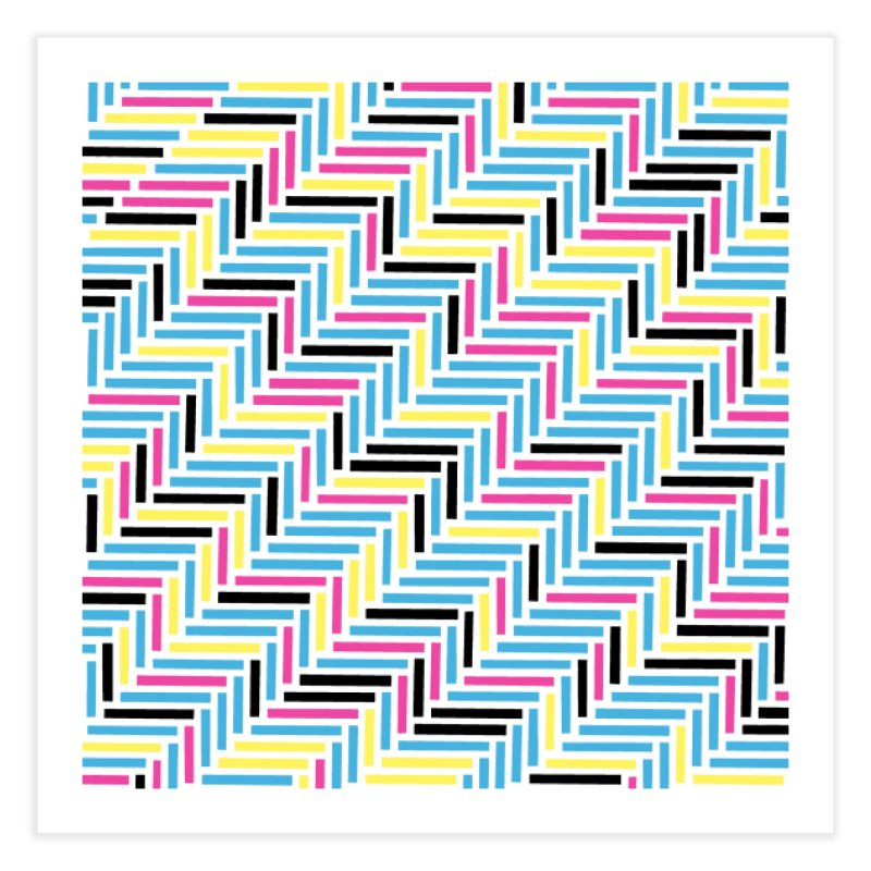 Herringbone 45 CMYK Home Fine Art Print by Project M's Artist Shop