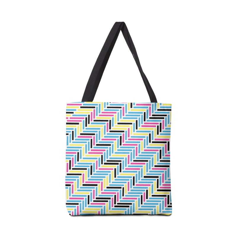 Herringbone 45 CMYK Accessories Tote Bag Bag by Project M's Artist Shop