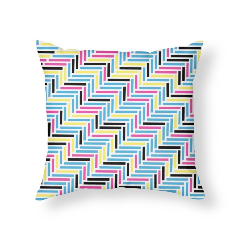 Herringbone 45 CMYK Home Throw Pillow by Project M's Artist Shop