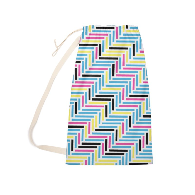Herringbone 45 CMYK Accessories Laundry Bag Bag by Project M's Artist Shop