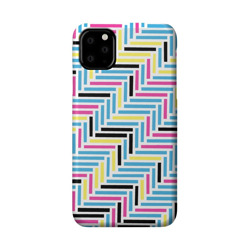 Herringbone 45 CMYK Accessories Phone Case by Project M's Artist Shop