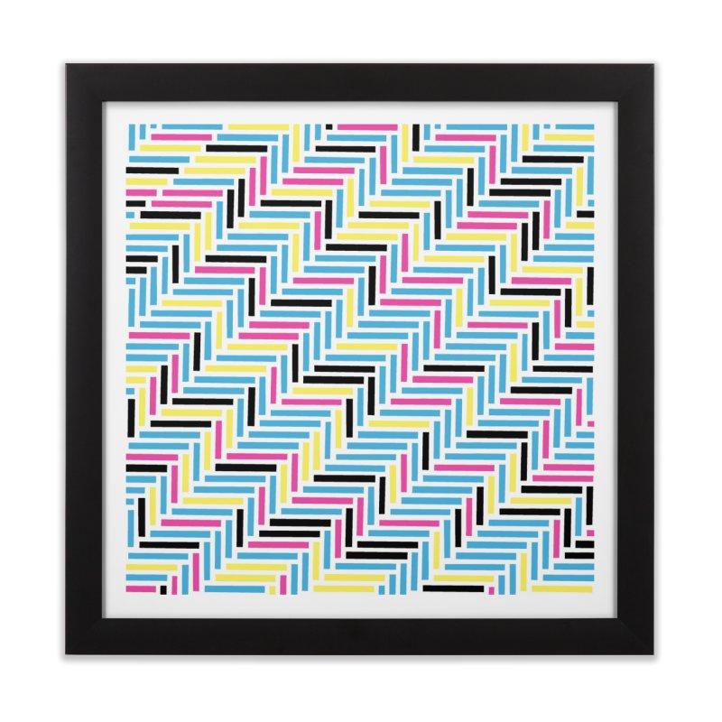 Herringbone 45 CMYK Home Framed Fine Art Print by Project M's Artist Shop