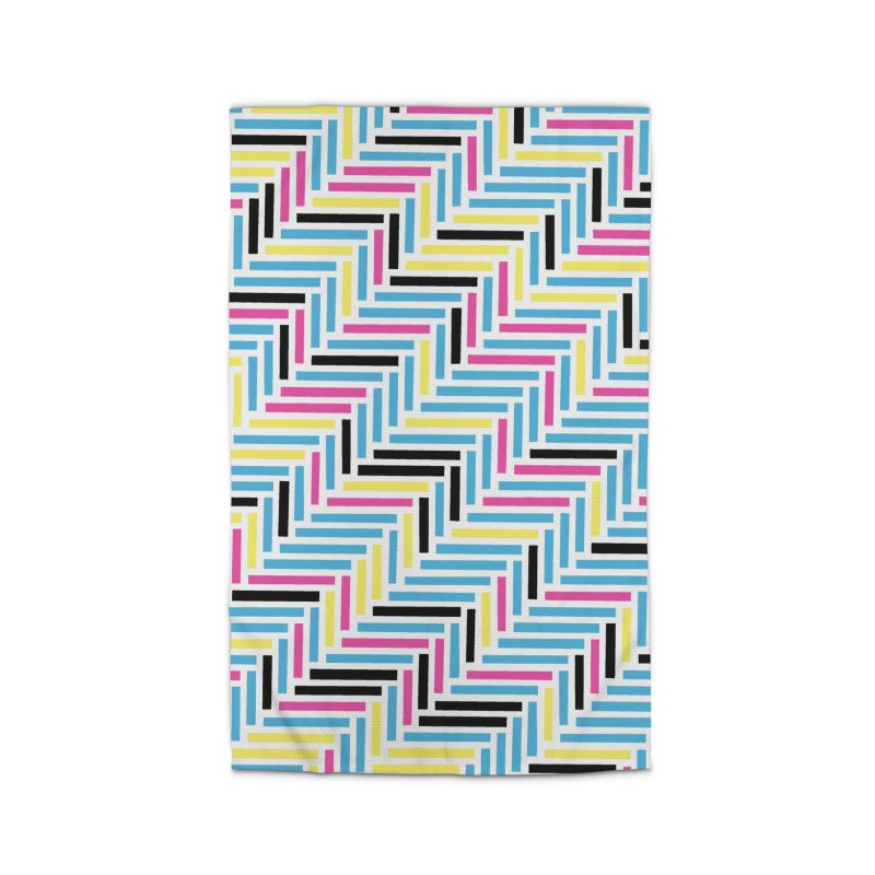 Herringbone 45 CMYK Home Rug by Project M's Artist Shop