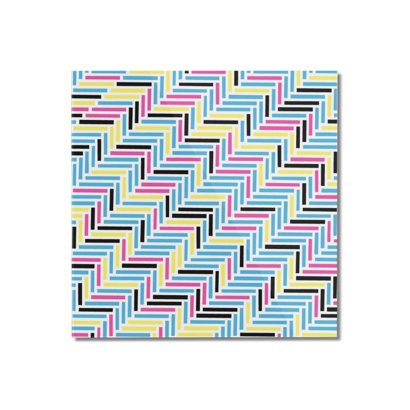 Herringbone 45 CMYK Home Mounted Acrylic Print by Project M's Artist Shop