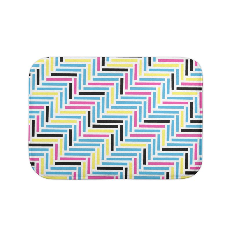 Herringbone 45 CMYK Home Bath Mat by Project M's Artist Shop