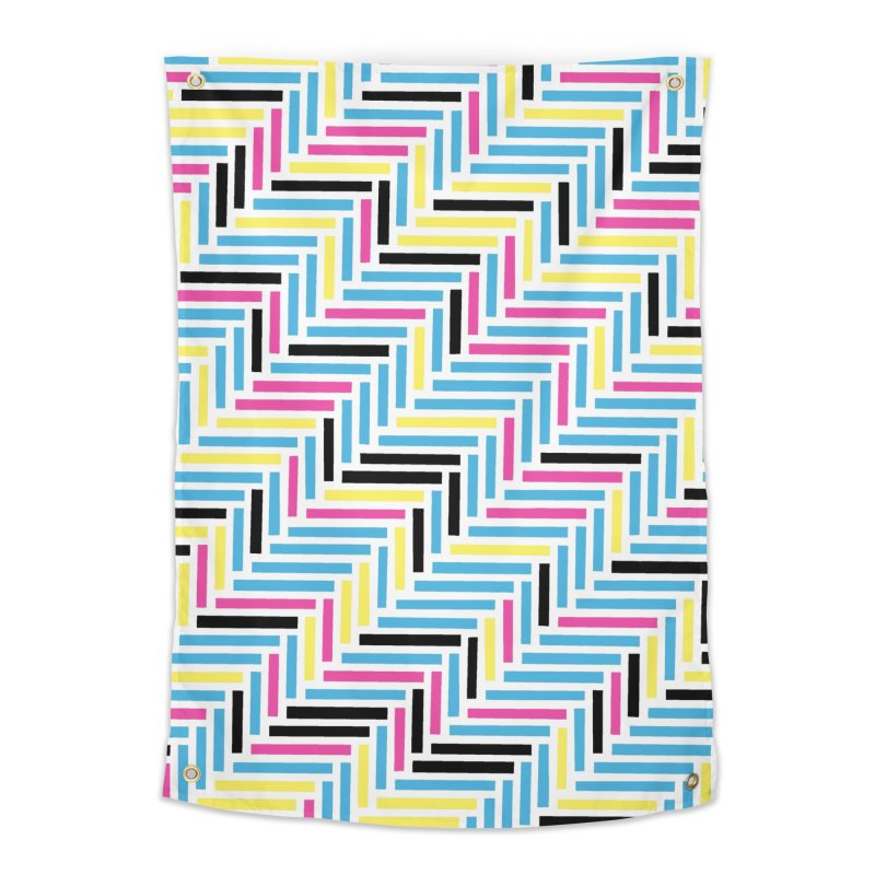 Herringbone 45 CMYK Home Tapestry by Project M's Artist Shop