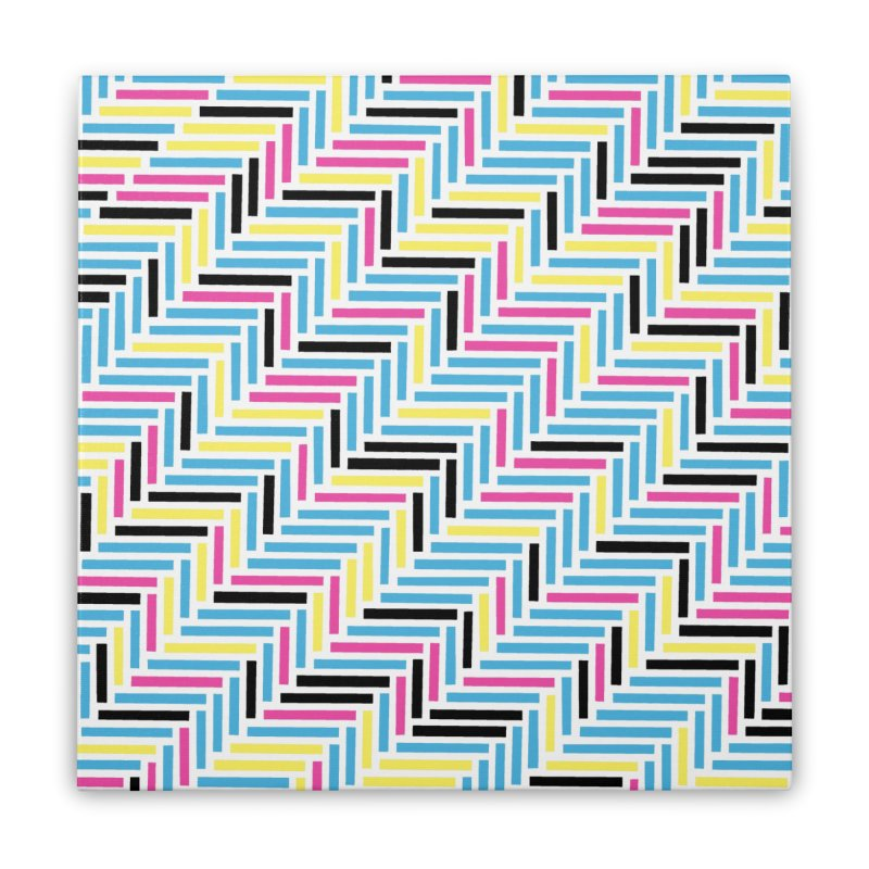 Herringbone 45 CMYK Home Stretched Canvas by Project M's Artist Shop